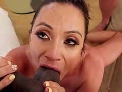 Cocksucking milf pleasuring two big dicks