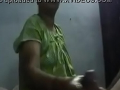 my indian maid jerking dick of me.MP4