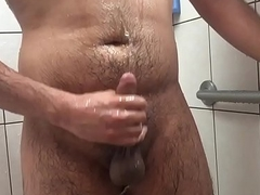 Gay cub jerks off and piss play in the shower pt1