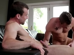 Ripped stud cocksucked before plowing ass