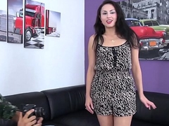 Naughty young slut enjoy fake agents cock &amp_ cum on pussy well