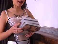 Maid ass fucked by bbc