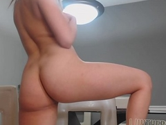 Latin babe does anal on a chair