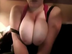 canadian babe showing her big perfect tits on webcam