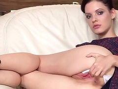 Unusual czech chick spreads her soft slit to the peculiar