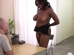 Chunky Black Chick Blows A Cracker Cock