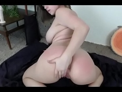 Thick babe free big booty slap show
