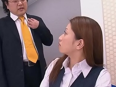 Obedient Japanese secretary works hard for a mouthful of cum
