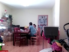 They spend a happy time fucking in the dinning room ADR0036