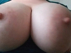 Aussie Milf Plays and Rubs her Big Tits