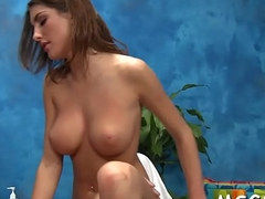 Oiled hotty rides hard boner