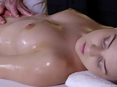 Massage Rooms Teen with perfect bum gets filled up with hard cock