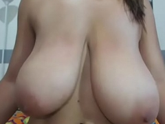 Woman with huge tits live tits webcam show