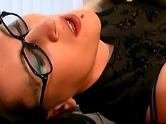 SLUTTYCATS.com secretary fucked in knee high boots