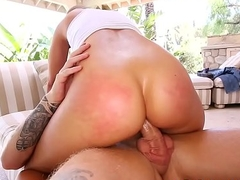 Candice Dare Shiny Botty Gets Pounded