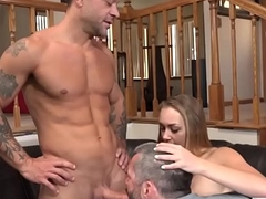 Slutty wife fucks in front of her cuckold hubby - Sadie Blair