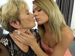Granny Malya and her much younger friend'_s fresh pussy