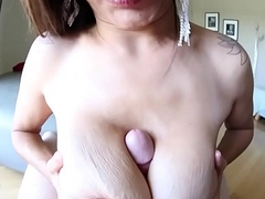 Cockloving beauty tittyfucking on her knees